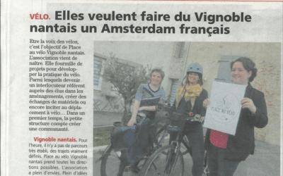 Place au Vélo Vignoble Nantais relayée par l'Hebdo Sèvre Maine
