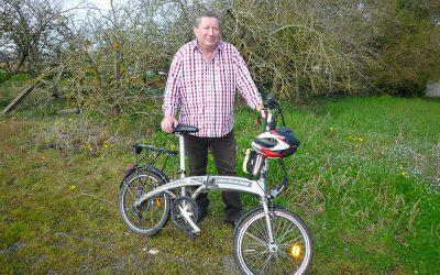 Portrait de Didier, cycliste habitant de Mouzillon