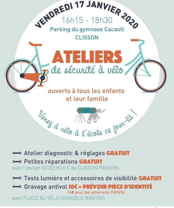Atelier sécurité vélo à la sortie de l'école Jacques Prévert